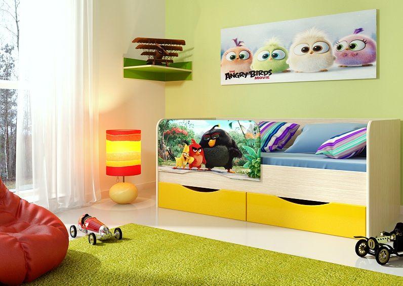 Кровать Энгри (фотопечать)