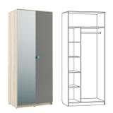 Шкаф 2-х дверный Доминика
