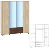 Шкаф 4-х дверный Келли