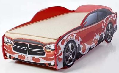 Кровать-машинка Додж с матрасом