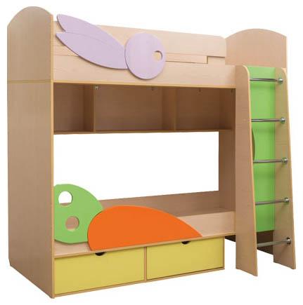 Кровать 2-х ярусная Бэмби