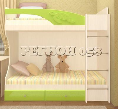 Кровать Бемби ( фасады 3Д) 2-х ярусная