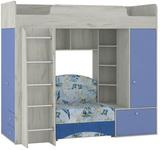 Кровать-чердак Тетрис 366 с диваном