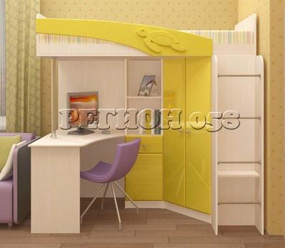 Кровать-чердак Бемби ( фасады 3Д)