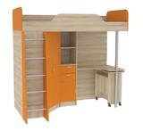 Кровать - чердак со столом Ника 427