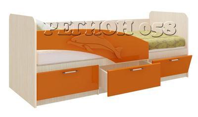 Кровать Дельфин (фасад 3Д)