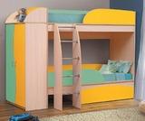 Кровать 2-х ярусная Омега 4 А со шкафом