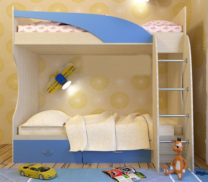 Кровать 2-х ярусная Беби-2 ЛДСП