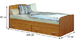 Кровать Фант с двумя ящиками с матрасом