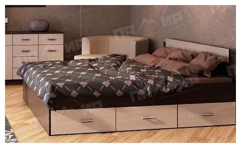 Кровать КР 6Я Памир с 6 ящиками